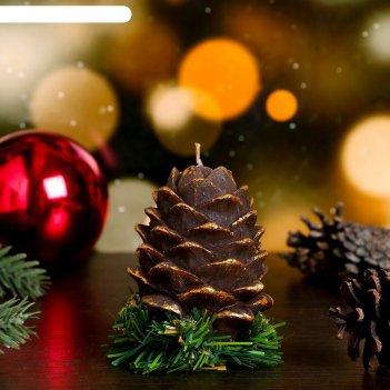 Декоративная свеча шишка на елке 1шт