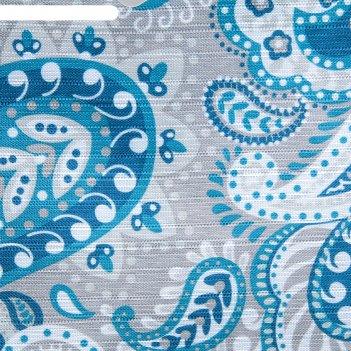 Штора для ванной 180x180 см синие оугрцы, полиэстер