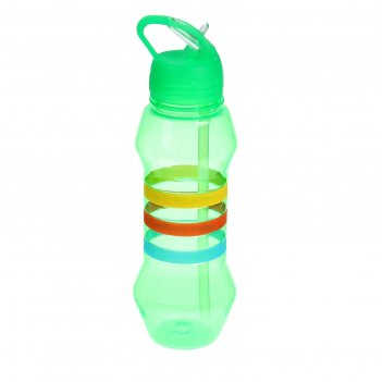 Фляжка-бутылка «три полоски», 750 мл, зелёная