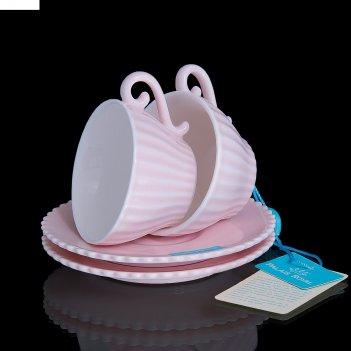 Набор из 2 кофейных пар confetteria, розовый, 80 мл