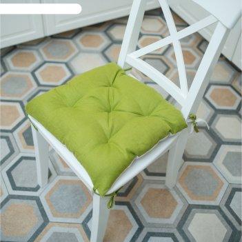Подушка на стул, размер 45 x 45 см, цвет оливковый