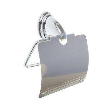 Держатель для туалетной бумаги с крышкой accoona a11105, цвет хром