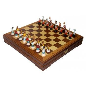 Rts-73 оловянные шахматы малые галлы-римляне покрашенные