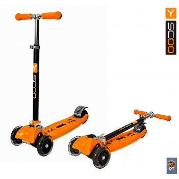 Самокат y-scoo maxi city rt simple gagarin трансформер orange