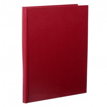 Папка архивная а4 calligrata 50мм, с гребешками, бумвинил, бордовая