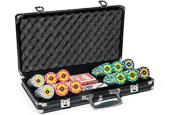 Профессиональный набор на 300 фишек покерный crown casino 14гр.