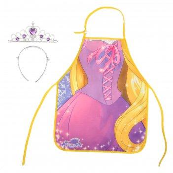 Фартук детский рапунцель, принцессы: рапунцель, + диадема