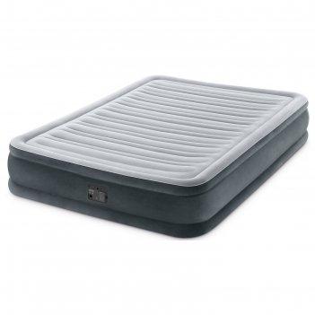 Матрас надувной comfort-plush full 137х191х33 см, со встроенным насосом 22