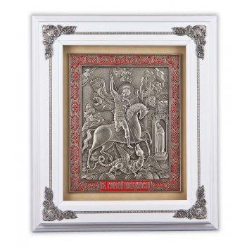 Ключница георгий-победоносец дерево (цвет-белый), арт. клд-619 белый