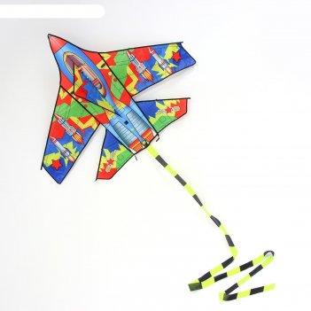 Воздушный змей самолёт с леской