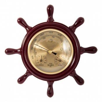 Метеостанция штурвал: барометр, термометр, гигрометр d=22см