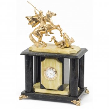 Часы георгий победоносец офиокальцит 170х120х270 мм 3000 гр.