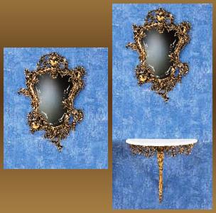 Зеркало из бронзы virtus дон хуан золото 74х50см 8250