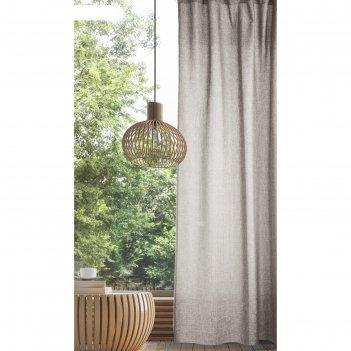 Комплект штор, размер 165х270 см-2 шт., цвет экрю, рогожка