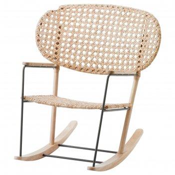 Кресло-качалка грёнадаль, серый, естественный