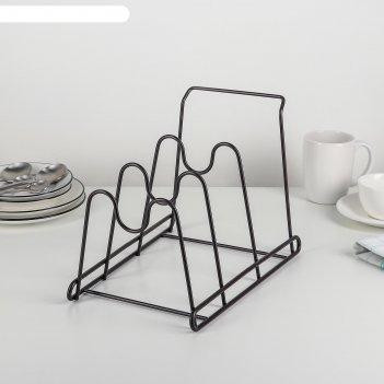 Подставка для крышек 30х20,5х22 см, цвет черный