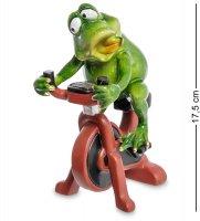 Mn- 68 фигурка лягушка на велотренажере