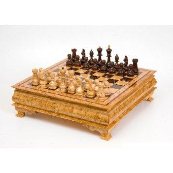 200108 шахматы средние на ножках из карельской березы