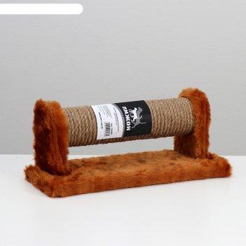 Комплекс с вращающейся когтеточкой, джут, 33 х 12 х 13 см