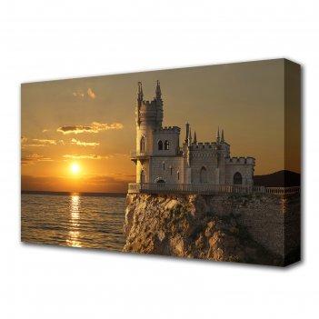Картина на холсте замок ласточкино гнездо 60*100 см