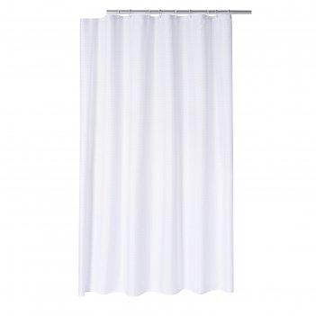 Штора для ванных комнат diamond, цвет белый, 180x200 см