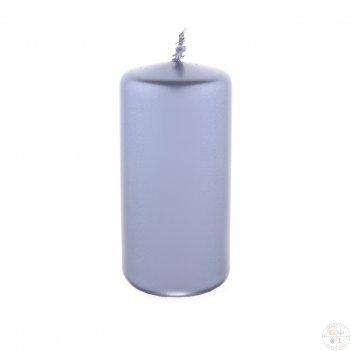 Свеча классическая 12/5,8 см (металлик серебряный)