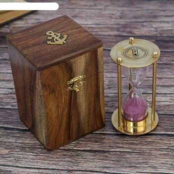 Сувенир песочные часы в шкатулке (3 мин.) 12х7,5х7,5 см