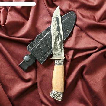 Нож туристический варан с гардой, сталь 40х13
