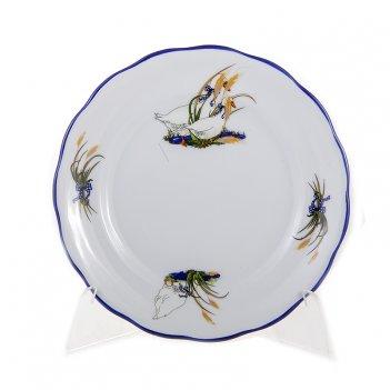 Набор тарелок 17 см.6шт.гуси 2807