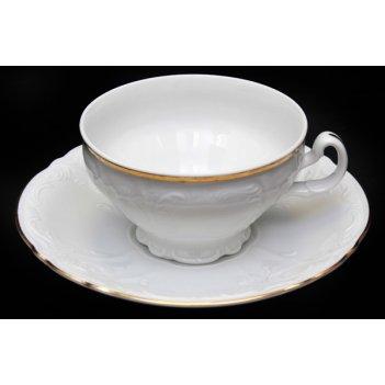 Набор для чая бернадот белый на 6перс.12пред. низкие на ножке
