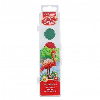 Акварель 6 цветов artberry, в пластиковой коробке, уф-защита яркости, евро