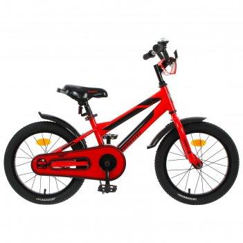 Велосипед 16 graffiti deft, цвет красный/чёрный