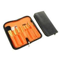 Набор для макияжа, 9 предметов, цвет оранжевый