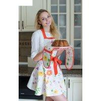Фартук с карманом listelle collection полевые цветы кокетка, размер 170х98
