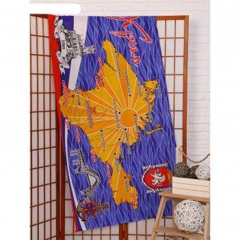 Вафельное полотенце отдых в крыму рис № 479 80х150 см, хлопок 100 %, 160г/