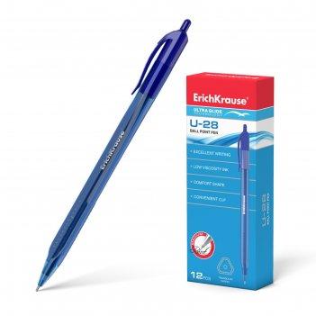 Ручка шариковая автоматическая ultra glide technology u-28 стержень синий,