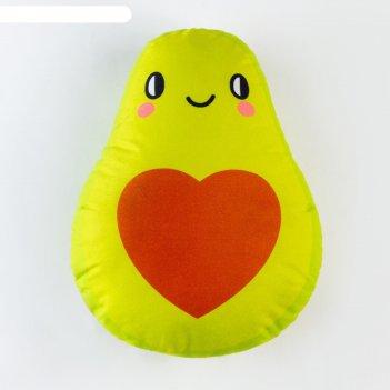 Подушка декоративная этель авокадо 32х40 см, велюр, 100% п/э