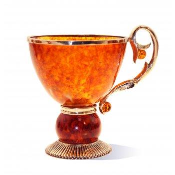 Чашка чайная саламандра из янтаря