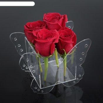 Коробка акриловая для цветов 18 х 10,5 х 13 см