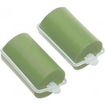 Бигуди резиновые dewal beautyзеленые d 38ммx70мм(10шт/упак)