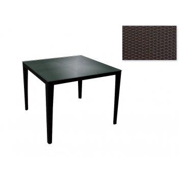 Садовая мебель: стол (80*80*73см. столешница стекло 5мм.) (комплектуется: