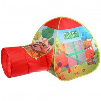 Палатка игровая ми-ми-мишки с тоннелем, 87x95x95,46x100 см, в сумке gfa-to