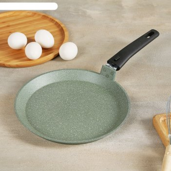 Сковорода блинная 24 см фисташковый мрамор