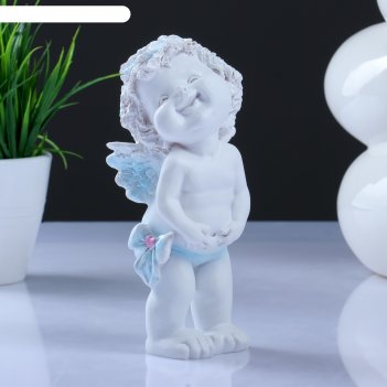 Фигура счастливый ангелочек белый   7х8х17см