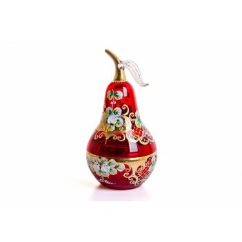 Ваза для конфет лепка красная-груша