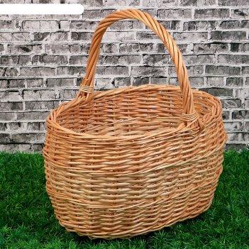 Корзина «грибная», №1, 32x25x34 см, 8 л, ручное плетение, ива