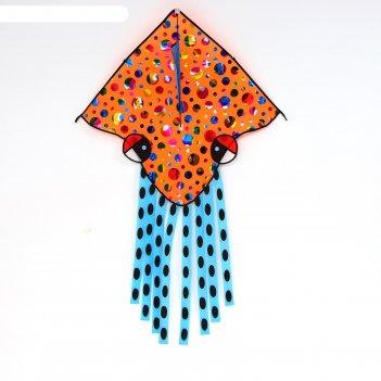 Воздушный змей лягушка с леской, цвета микс