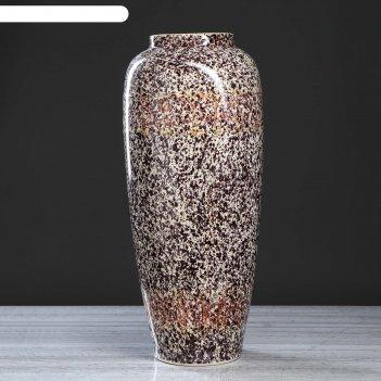 Ваза напольная дана точеный мрамор, 68 см
