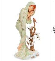 Pr-muc07 статуэтка девушка зима альфонса мухи (museum.parastone)
