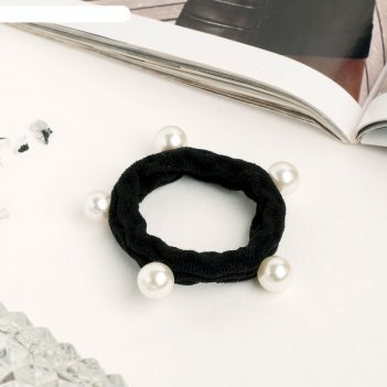 Резинка для волос габриэль 5,5 см, шарики, плетёнка